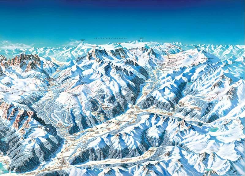 narty w val di sole - mapa wyciągów