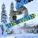 Snowboardziści w Bukowinie
