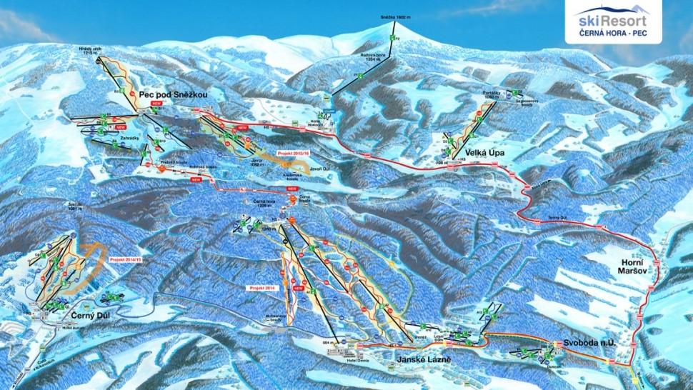 Czechy wyciągi narciarskie