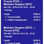 Poznań - Bergamo od 138 zł